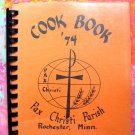 ROCHESTER MINNESOTA (MN) Pax Christi Church Cookbook 1974