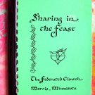 "Morris Minnesota (MN) Church Cookbook  1984 ""Sharing in the Feast"""