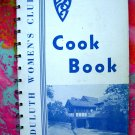 Duluth Minnesota Woman's Club Cookbook Vintage Community Recipes