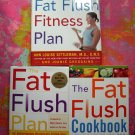 ON SALE! Lot 3 Books Fat Flush Book + FAT FLUSH FITNESS PLAN + COOKBOOK Loose Weight Program