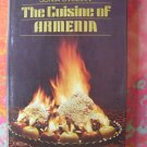 The Cuisine of Armenia ...Cookbook~~ Armenian Recipes 1974 1st Ed HCDJ by Sonia Uvezian