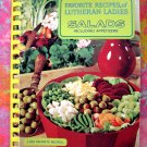 Vintage Lutheran Ladies SALADS & APPETIZERS ~  Vintage 1969 Cookbook