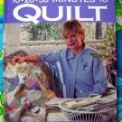 10-20-30 Minutes to Quilt by Nancy Luedtke Zieman Sewing Quilting Instruction Project Book