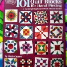 101 Quilt Blocks for Hand Piecing / Machine Piecing ~ Quilting Instruction Book Blocks