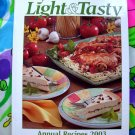 Taste of Home LIGHT & TASTY Annual Recipes 2003 HC Cookbook A Year's Worth of Recipes!