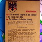 Rare Vintage Book ~ Total Defense Memorandum Subject: The Economic Conquest of the Americas