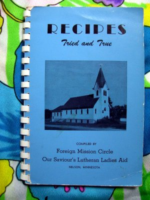 Vintage 1959 Nelson Minnesota MN Lutheran Church Cookbook & Ads  Smörgåsbord