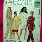 McCall's # 8186 Misses Pattern ~ Unlined Jacket Pull-On Pants & Shorts Size 12 14 16
