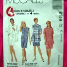 McCall's # 8159 Misses Dress Unlined Jacket Pattern Size 10 12 14 ~ Circa 1996