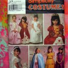 SIMPLICITY Girl's Costume Pattern # 9089 UNCUT Princess Bride etc Size 2 3 4 5 6