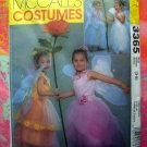 McCalls Pattern # 3365 UNCUT Girls Costume FAIRY PRINCESS Size 3-4  5-6  7-8