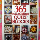365 Fun-To-Stitch Quilt Blocks by Jeanne Stauffer ~ HC Hard to find quilting pattern book!