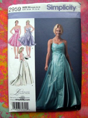 Deb's Recycled Sewing Patterns - Simplicity Womens Fancy - Bridal