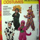McCalls Pattern # 6804  UNCUT Toddlers Costume Size 2 3 4 ~ Clown Flower Cow Dinosaur