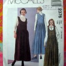Mccalls Pattern # 2376 MISSES JUMPER Size 16 18 20 Circa 1999