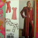 Simplicity Pattern #3968 UNCUT Misses Robe Nightgown Long & Short Pajamas Size 8 10 12 14 16 UNCUT