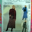 McCalls Pattern #3382 UNCUT Misses Jacket Skirt Pants Size 14 16 18 20