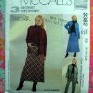 McCalls Pattern #3382 UNCUT Misses Jacket Skirt Pants Size 14 16 18 20