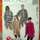 McCalls Pattern #7943 Misses COAT Size 16 18  UNCUT 1995