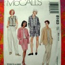 McCalls Pattern #8163 UNCUT Misses Shirt Jacket Vest Pants Shorts Skirt Size 4 6 8