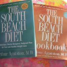 LOT South Beach Diet Book & Cookbook Arthur Agatston Weight Loss Recipes