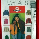 McCALLS Pattern 2918  UNCUT GIRLS Vest Jacket Coat  Child or Girls Size 10 12 14