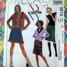 McCalls Pattern # 3810 Juniors Cardigan, Top, Skirt ~ UNCUT Size 3/4 - 5/6 - 7/8 - 9/10