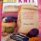 Learn to Knit by Penny Hill ~ HCDJ Knitting Instruction Book for Beginners
