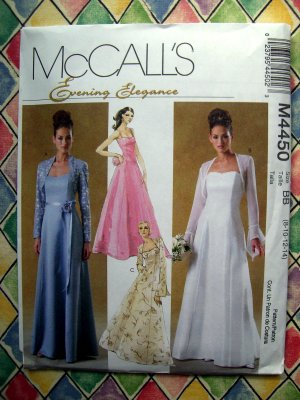 UNCUT McCALLs 1990 PATTERN 4899 SUNDRESS PROM DRESS | eBay