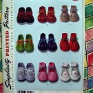 Simplicity Pattern NEW UNCUT # 2867 Reto 1948 Felt Baby Booties
