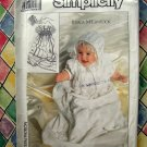 SIMPLICITY Pattern UNCUT # 9386 BABY'S CHRISTENING GOWN Jessica McClintock Vintage 1989