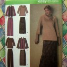 Simplicity Pattern # 4886 UNCUT Women's Tops Skirt Pants 20 22 24 26 28