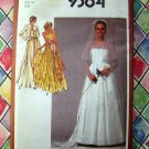 Vintage 1980 Simplicity Pattern # 9364  Bridal / Wedding Dress prom Gown or Bridesmaid Dresses