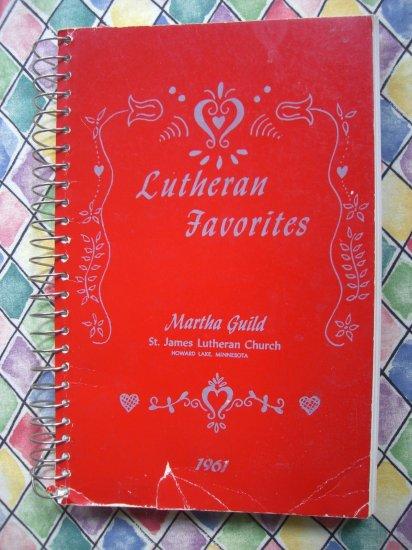 SOLD! HOWARD LAKE Minnesota MN Cookbook ~ 1961 St. James LUTHERAN FAVORITES Church