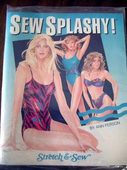 SOLD! Rare UNCUT SEW SPLASHY Stretch Pattern for Misses Bathing Suits ~ 9 Patterns
