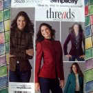 Simplicity Pattern # 3628 UNCUT Misses Jacket Size 8 10 12 14 16 Threads Magazine