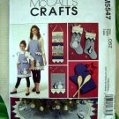 McCall's Pattern # 5547 UNCUT Christmas Tree Skirt Apron Stockings