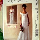 McCall's Pattern # 4714 UNCUT Bridal Gown Prom Dress Size 6 8 10 12