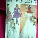Simplicity Pattern # 8413 Size 10---UNCUT Wedding Gown Bridesmaids Evening READ Measurements
