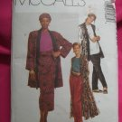 McCall's Pattern # 7488 UNCUT Misses Duster, Jacket Vest Tunic Skirt Pants Size 18 20 22