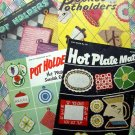 Lot Vintage PotHolder Pot Holder Patterns Instruction Booklets