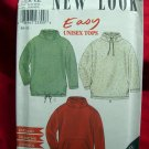Simplicity NEW LOOK Pattern # 6890 UNCUT Unisex Fleece Top /Jacket Sizes Small Medium Large XL