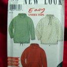 Simplicity NEW LOOK Pattern # 6890 UNCUT Unisex Fleece Top /Jacket Sizes Small Medium Large XL