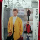 McCalls Pattern # 9565 UNCUT Misses Vest Pants Size 12 14 16