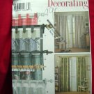 Simplicity Pattern # 7437 UNCUT Tab Curtains EIGHT Styles!