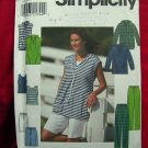 Simplicity Pattern # 8172 UNCUT Misses Top Pants / Shorts & Knit Tank Top Sizes 12 14 16