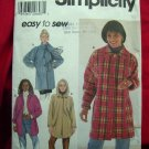 Simplicity Pattern # 7760 UNCUT Misses Car Coat / Jacket Sizes XS, Small and Medium