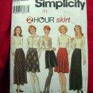 Simplicity Pattern # 9765 UNCUT Misses Flared Bias Skirt Long Short Size 10 12 14