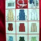 Butterick Pattern # 5552 UNCUT Misses Vest 9 Styles Sizes 12 14 16