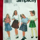 Simplicity Pattern #9249 UNCUT Girls Skirt Top Size 7 8 10
